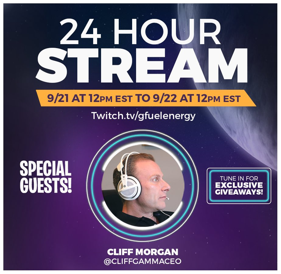 Dont forget! Our 24 HOUR #GSQUAD STREAM is live until 12pm est! Expect to see plenty of giveaways (including the #GFUEL goodies you see here), special guests, and as always - Good Vibes! Tune In Now: bit.ly/2MSYoEH 👈😎🎮