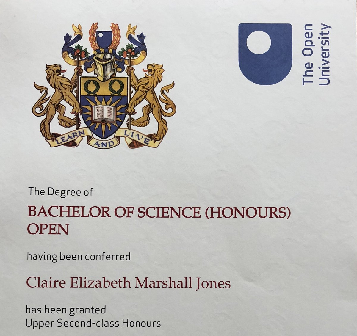 Claire Jones On Twitter My First Openuniversity Experience Was A Web Design Short Course 11 Years A Lot Of Hard Work And A Few Study Breaks Later I Get This In The