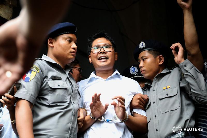 Wa Lone and Kyaw Soe Oo, two @Reuters journalists, have been imprisoned in Myanmar since Dec. 12, 2017. Follow the case: https://t.co/nHhmlO1FdT