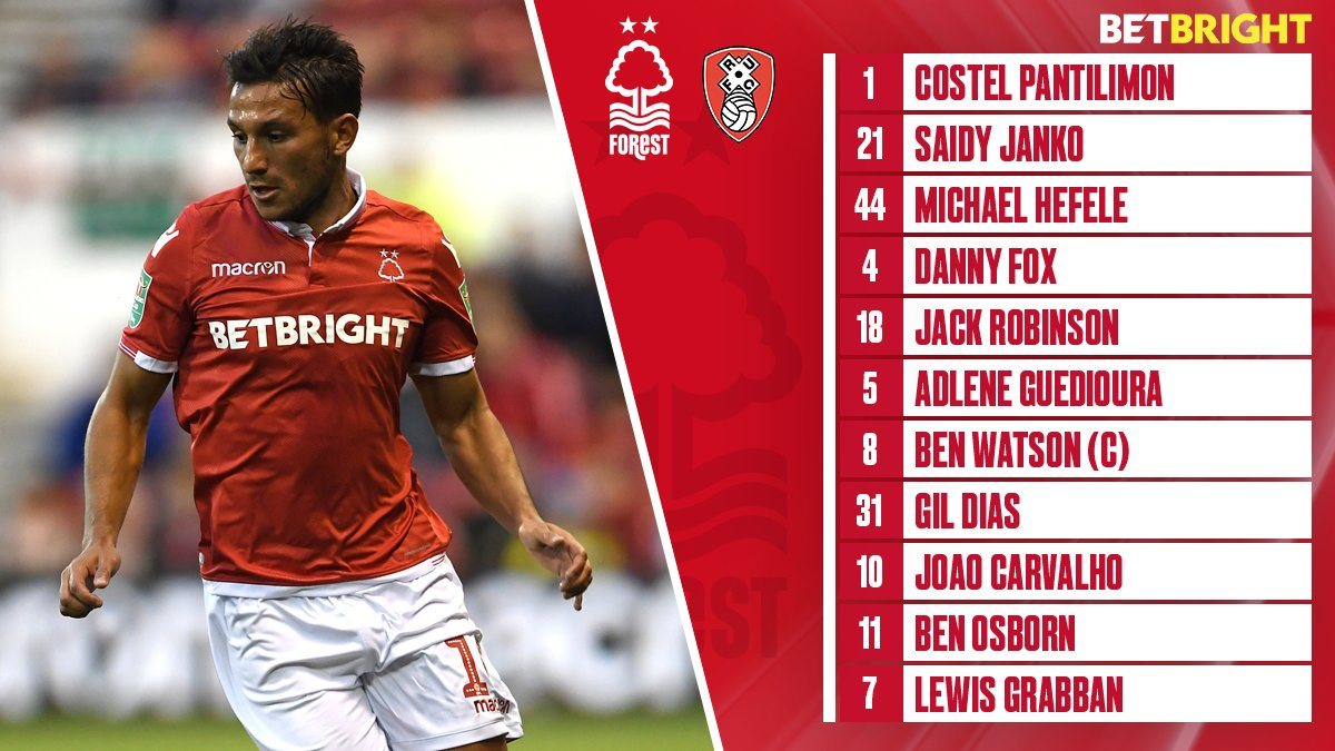 Here's the #NFFC team news for today's game, brought to you in association with @BetBright.