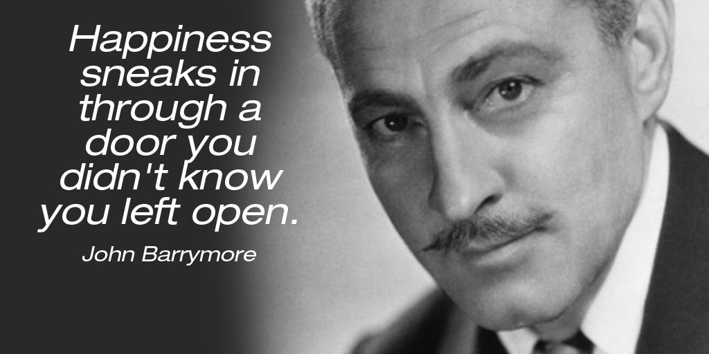 Happiness sneaks in through a door you didn't know you left open. - John Barrymore #SuperSoulSunday https://t.co/7NVEFSPS7E