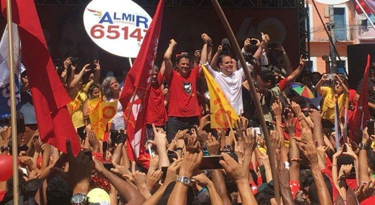 Em ato com Haddad, Paulo Câmara e família Campos são vaiados  #Eleições2018 #EleiçõesSJCC
