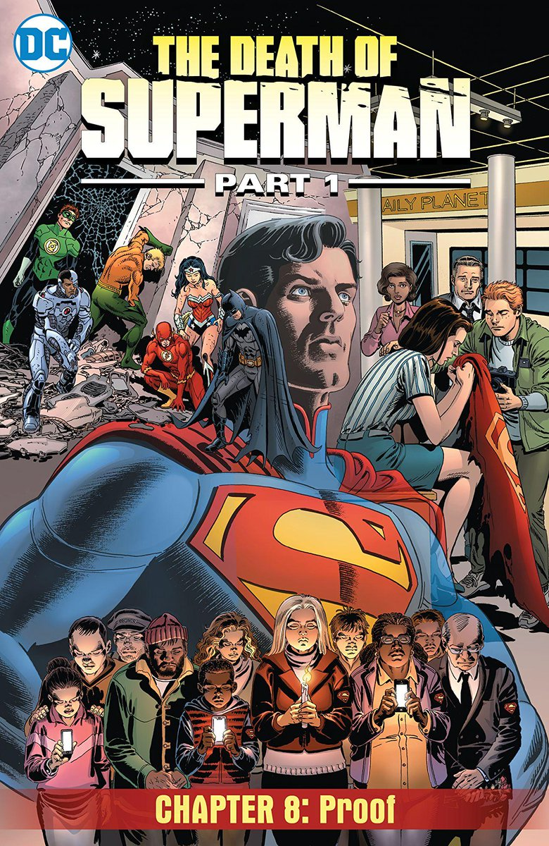 Jimmy Olsen gets caught in the fray as the Justice League battles Doomsday in digital-first THE DEATH OF SUPERMAN PART 1 #8, available now: bit.ly/2Doy1ar