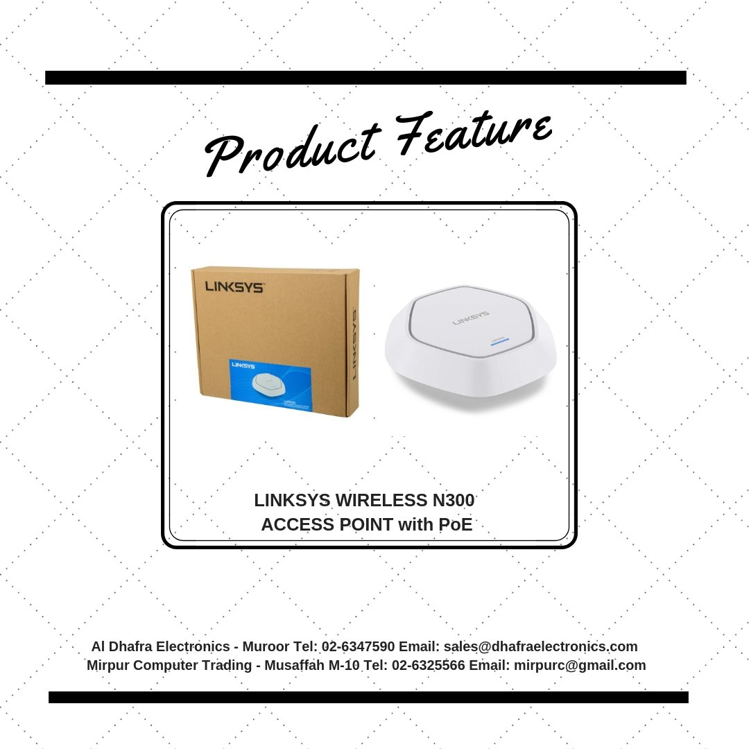 ... connectivity using the Linksys LAPN300 Business WirelessN300 Access  Point w/ PoE. #wireless #router #wifi #network #installation #computer #pc  #products ...