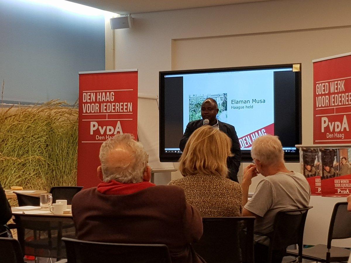 test Twitter Media - Elemam Musa, 'Haagse stadsboer' spreekt op seizoensstart @PvdADenHaag. Prachtig verhaal over zelfvoorzienende steden. Inspirerende voorbeelden over verbouwen eigen groente in de stad, de stadswijngaard en het werk dat dat oplevert. Heeft geweldig werk verricht voor Laakkwartier. https://t.co/QkvMq7Xe1k