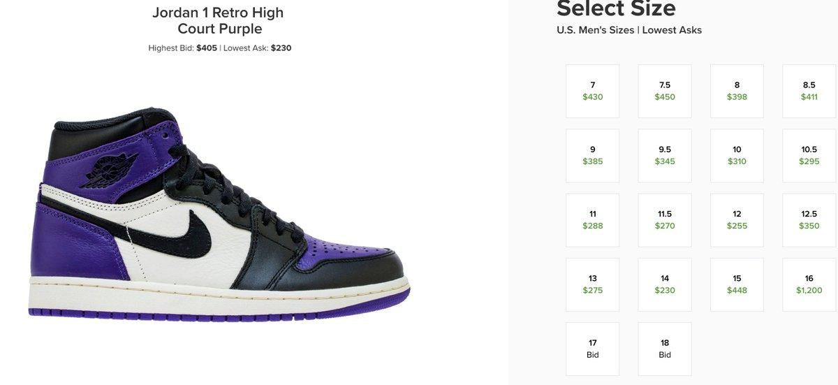 air jordan 1 high og court purple stockx