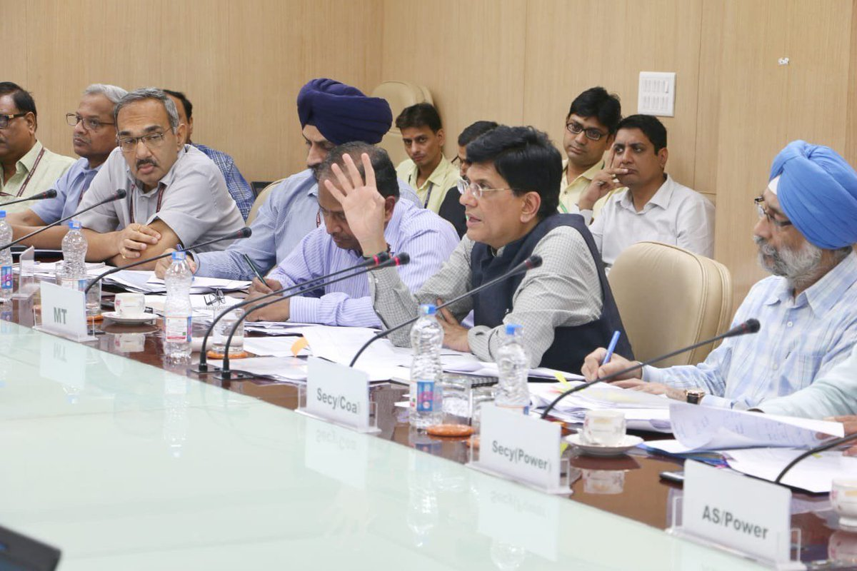 Interacted with officials from Railways and Coal via a video conference and took stock of coal supplies to Power Plants. We are committed to ensuring an uninterrupted supply of coal to the power plants to meet the needs of the growing economy.