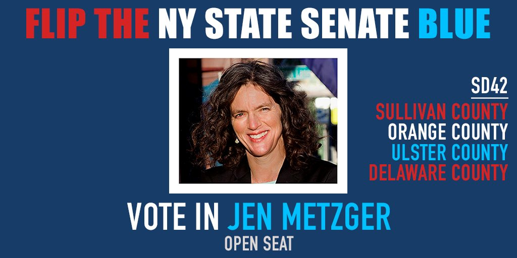 Support progressive @JenMetzgerNY! She is endorsed by @ZephyrTeachout. It&#39;s an OPEN SEAT and this Hudson Valley district is majority Dem and voted for Obama by 9 points! The district overlaps with @DelgadoforNY19&#39;s Congressional race.  http:// jenmetzger.com  &nbsp;  <br>http://pic.twitter.com/ilmGJmcQZy