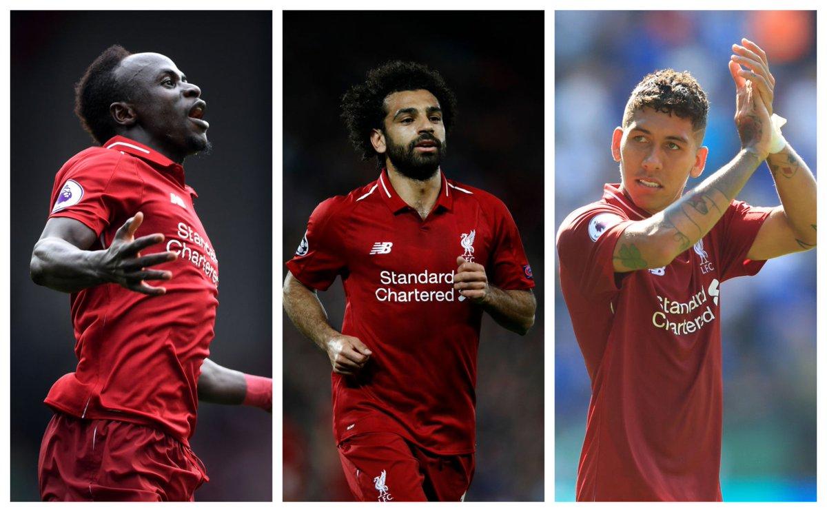 Roberto Firmino (38), Mohamed Salah (35) & Sadio Mane (27) have scored 💯 Premier League goals for @LFC #PL