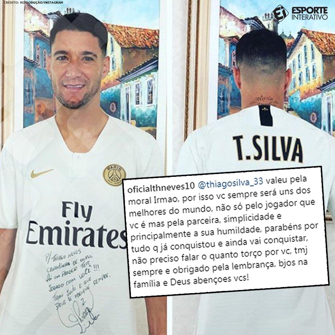 Será que o Thiago Neves ficou feliz com o presente que recebeu do @tsilva3? 😂😂