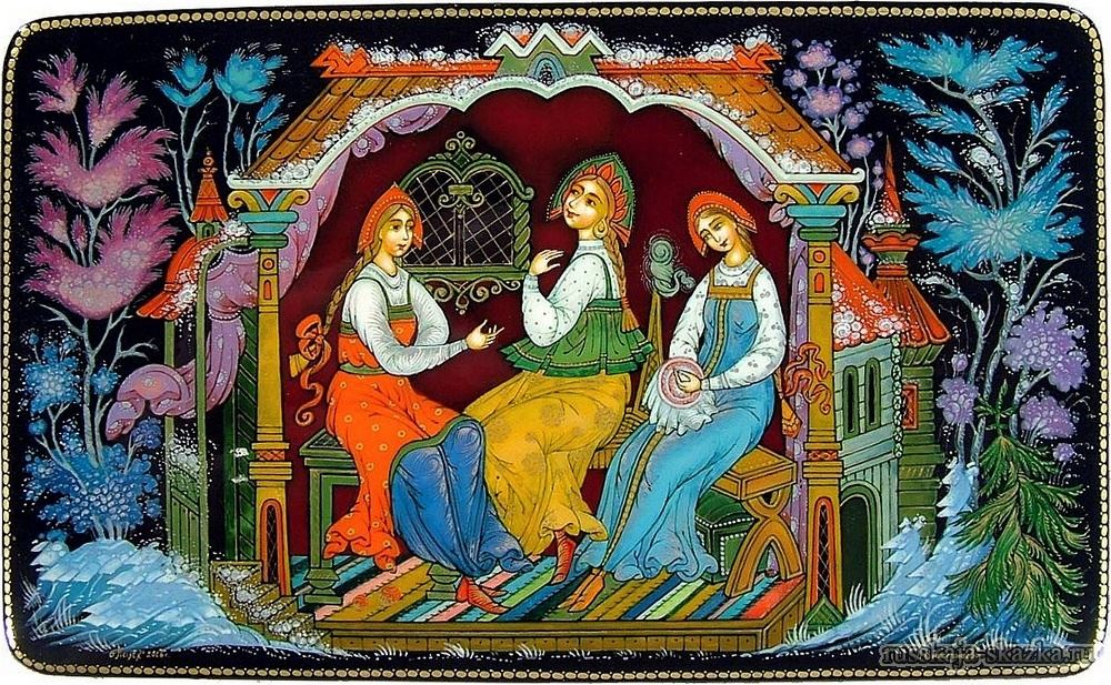 Картинки на тему три девицы под окном