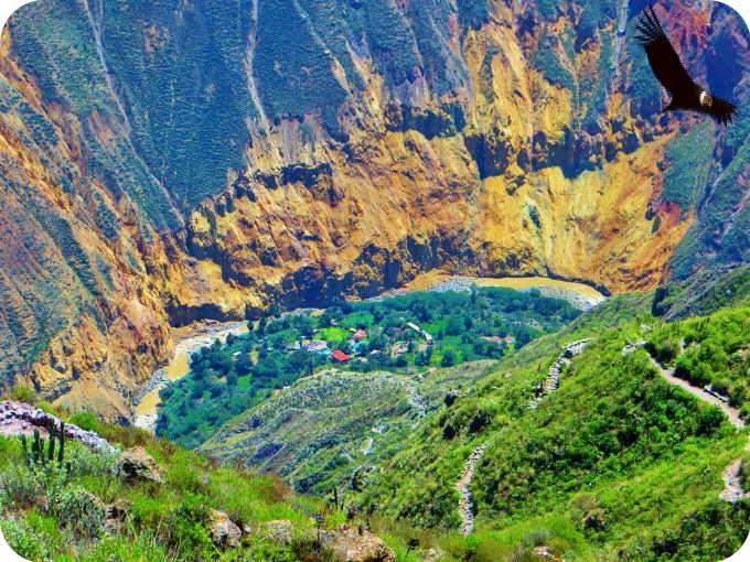 Valle de Sangalle, Cabanaconde - Provincia de Caylloma, Región Arequipa