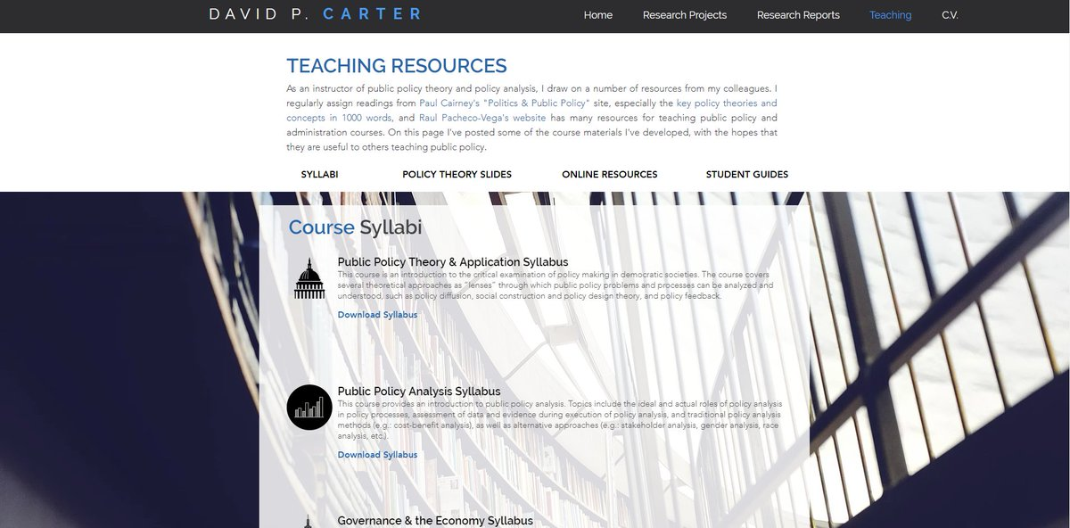 David P Carter On Twitter New And Improved Teaching Resources For Policy Courses Including Design Inspired Syllabi Policy Theory Powerpoint Slide Decks Policy Analysis Prezi Presentations And Student Expectations And Guidance Docs At