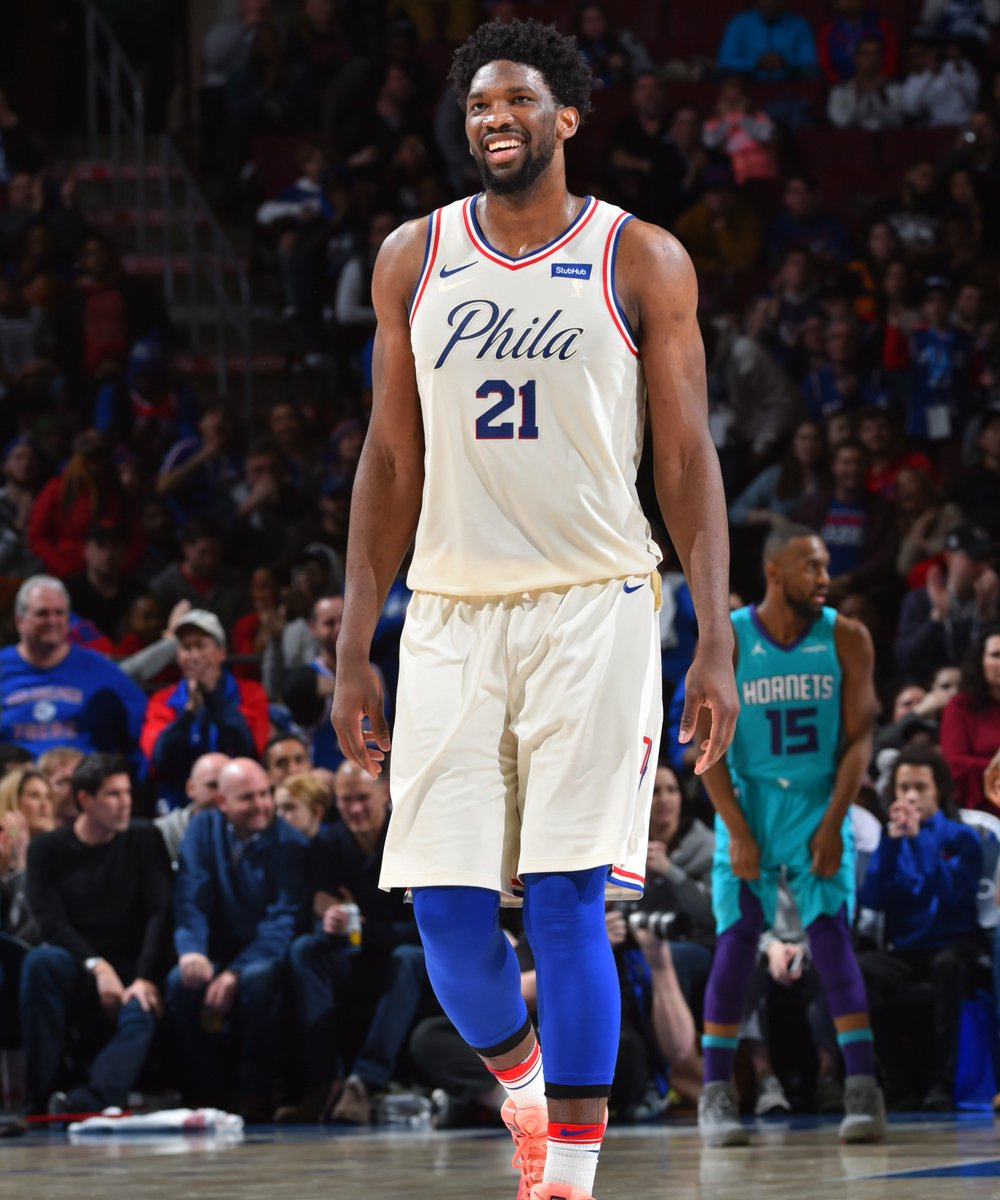 Joel Embiid on Deandre Ayton: Hes about to get his ass kicked this year. (via @espn) slam.ly/joel-deandre