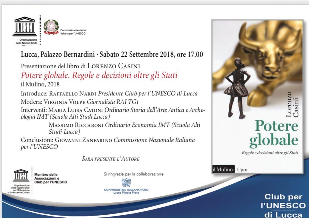 Inizia ora a Lucca la presentazione di #potereglobale. Grazie al Club Unesco per Lucca e a @IMTLucca @edizionimulino #globalizzazione #migrazioni  - Ukustom