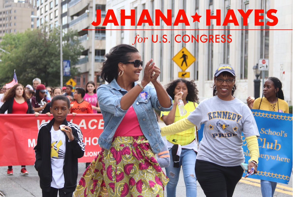 Having a blast walking with Waterbury's Kennedy High School at the The Gathering Parade 2018.   #waterburyct #jahanahayes4congress #CT05 #thegathering #votenovember6<br>http://pic.twitter.com/HuXcEPC0d8