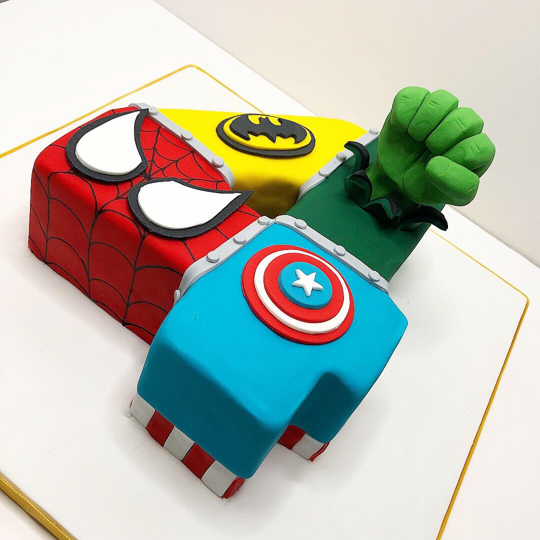 Amazing Tidbits Treats A Twitter A Superhero 4Th Birthday Cake For Birthday Cards Printable Opercafe Filternl