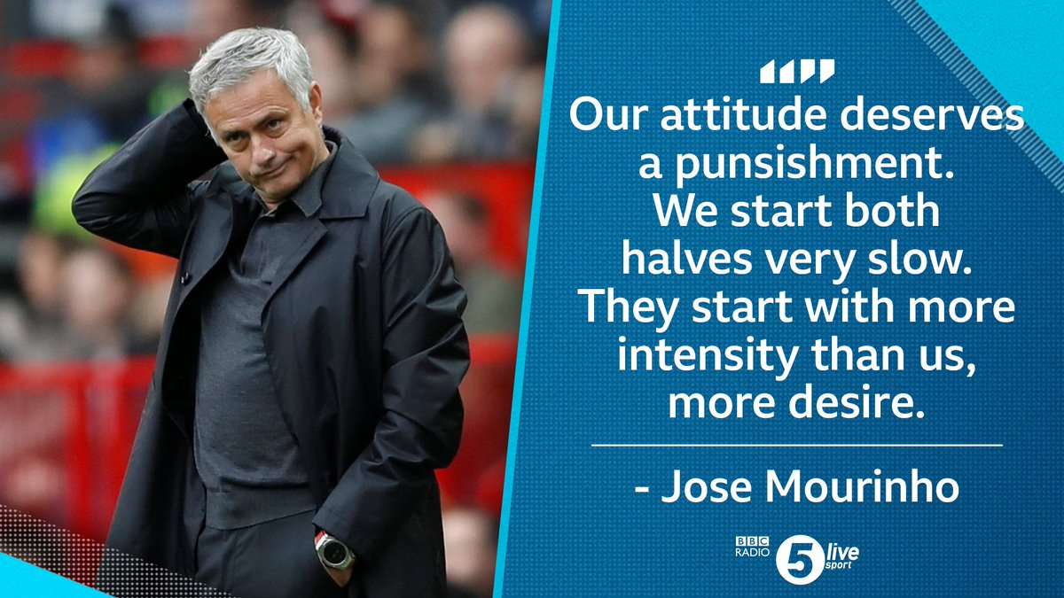'I'm not happy at all' 😠  Jose Mourinho's reaction to #MUFC's draw with #Wolves  📻📲 https://t.co/pq94rnS23l #MUNWOL