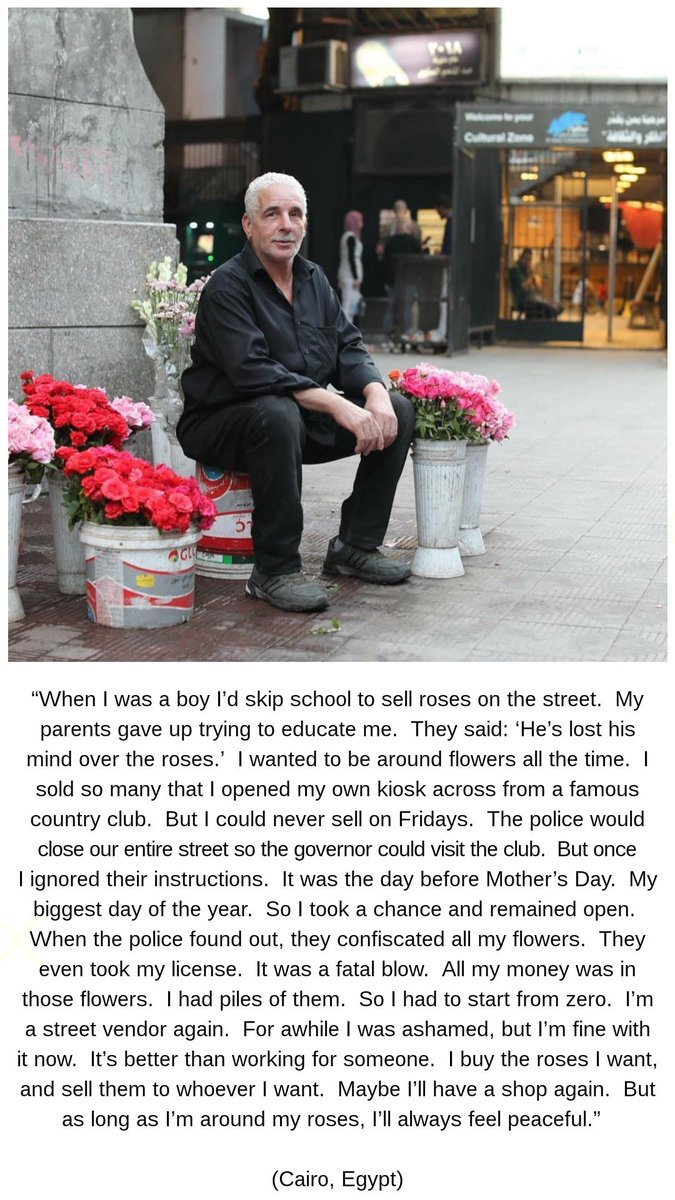 """""""When I was a boy I'd skip school to sell roses on the street. My parents gave up trying to educate me. They said: 'He's lost his mind over the roses.' I wanted to be around flowers all the time. I sold so many that I opened my own kiosk across from a famous country..."""