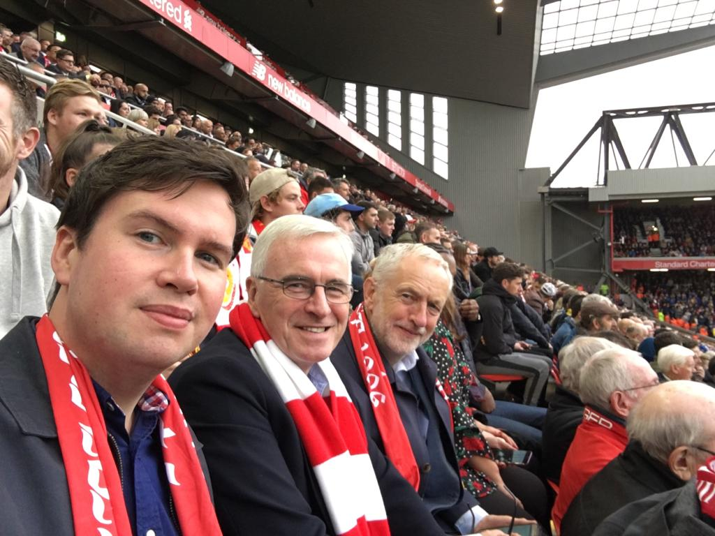 Great going to @LFC today and an impressive display against @SouthamptonFC. But difficult listening to @johnmcdonnellMP and @DanCardenMP go on all game about how good Liverpool are this season. Hopefully Arsenal can keep them in sight by beating Everton tomorrow. #LIVSOU #Lab18
