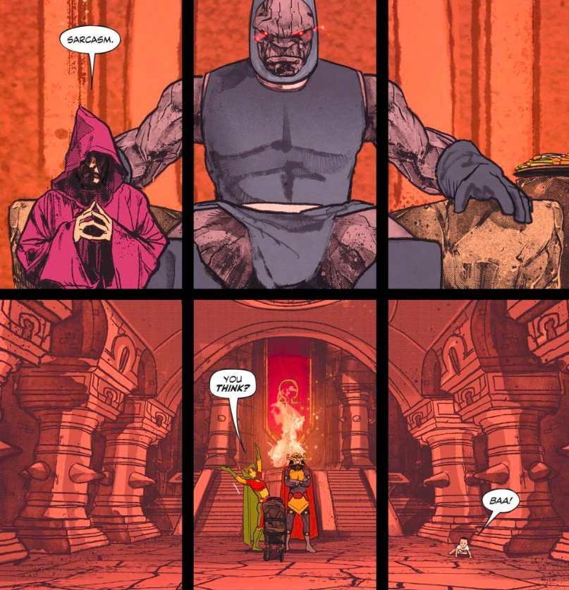 Its called SARCASM, Uncle Desaad. Whats your review of MISTER MIRACLE #11?