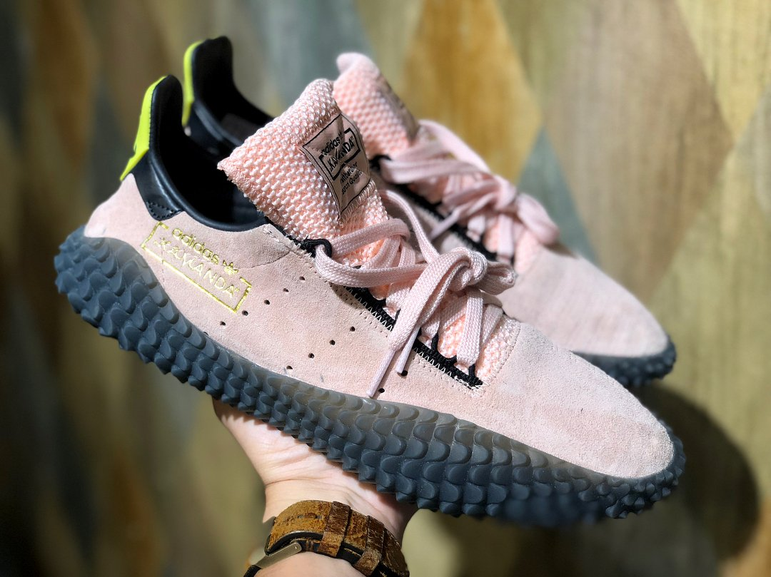 """best service 74a41 0b5fe ... Buu"""" Dragon Ball Z x adidas Kamanda, featuring a pink suede upper and a  custom heel tab, rumored to release in November. Stay tuned for updates."""