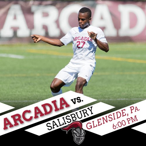 Third and final game of day has @Arcadia_MSOC taking on Salisbury under the lights. First touch slated for 6 p.m.  Video: https://buff.ly/2MWk3fg  Stats: https://buff.ly/2NVyhSi