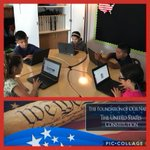 Image for the Tweet beginning: Constitution Week-Fourth Grade Students studying