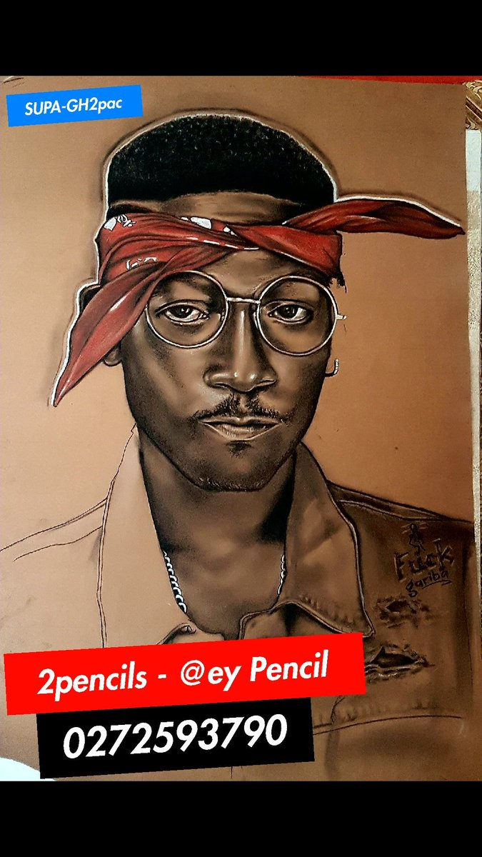 2pencils the celebrity artistss tweet 2pencils to the world awesome drawing of supa by atey pencil 2pencils shattawalegh sarkodie trendsmap