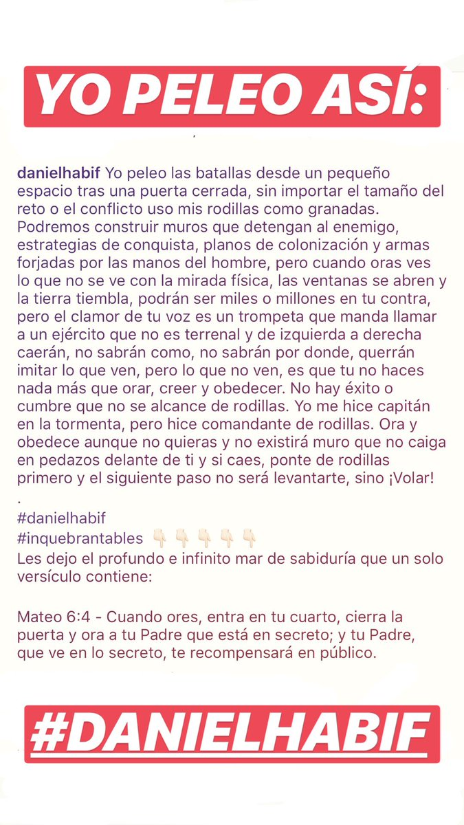 Daniel Habif On Twitter Yo Peleo Así