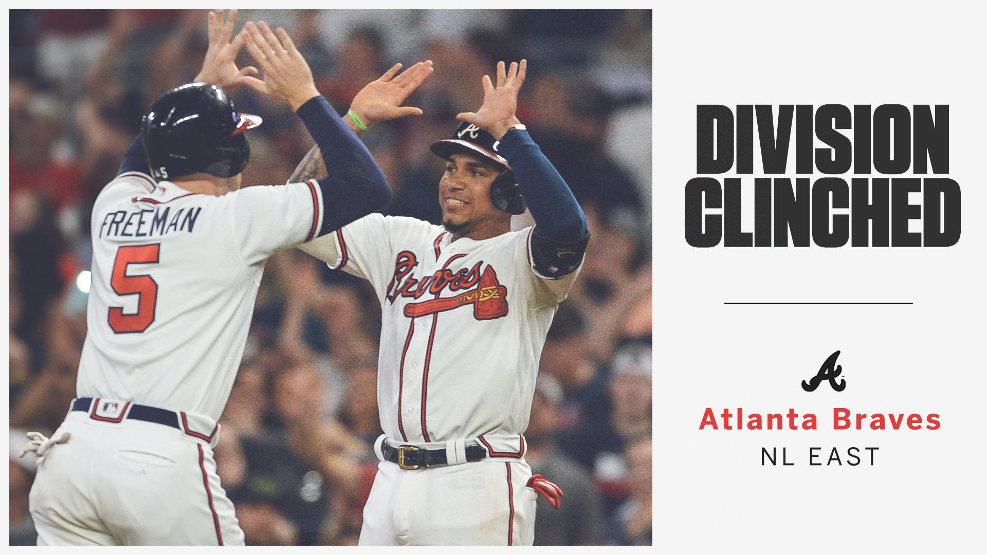 Back at it!  The @Braves clinch their first NL East title since 2013. https://t.co/uJvn5RorID
