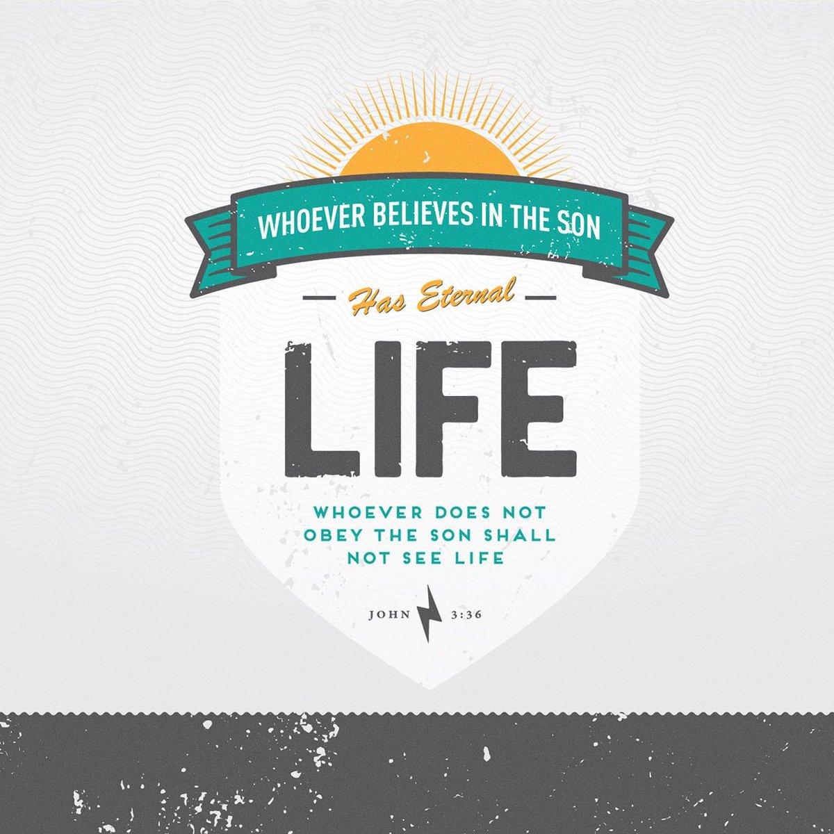 The one who believes in the Son has eternal life, but the one who refuses to believe in the Son wi…  https:// bible.com/bible/72/jhn.3 .36.HCSB &nbsp; … <br>http://pic.twitter.com/ZEteNEkQJM