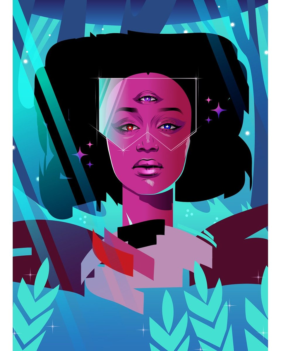 #garnet with a background ! Will have prints of her at #nycc on pearlescent shiny paper  #StevenUniverse #art #vector #vectorart <br>http://pic.twitter.com/OxaU1cf24n