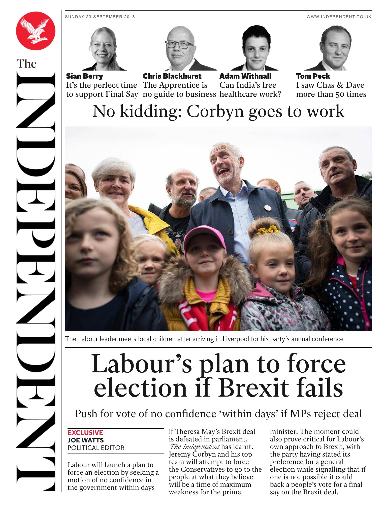 Tomorrow's @Independent front page #tomorrowspaperstoday To subscribe to the daily edition: https://t.co/ozdV9Zd9Si https://t.co/pui00k5VFO