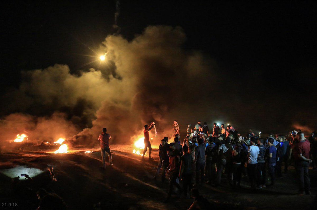 It's 11:15PM. Children in southern Israel are sound asleep while minutes away Palestinians in Gaza are hurling bombs & grenades at the border fence with Israel, attempting to breach it and reach these children. Our troops are there to make sure that none of them are successful.