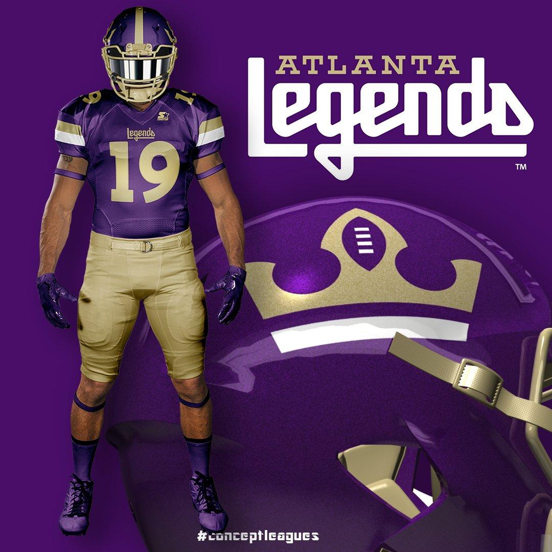 Atlanta Legends uniform concept   AAF Football 14a0e817c