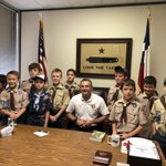 Today I was blessed to be able to visit with the Webelos from Pack 533  (Keith Elementary) about our state government, citizenship, and our Constitution. #txlege @CyFairISD