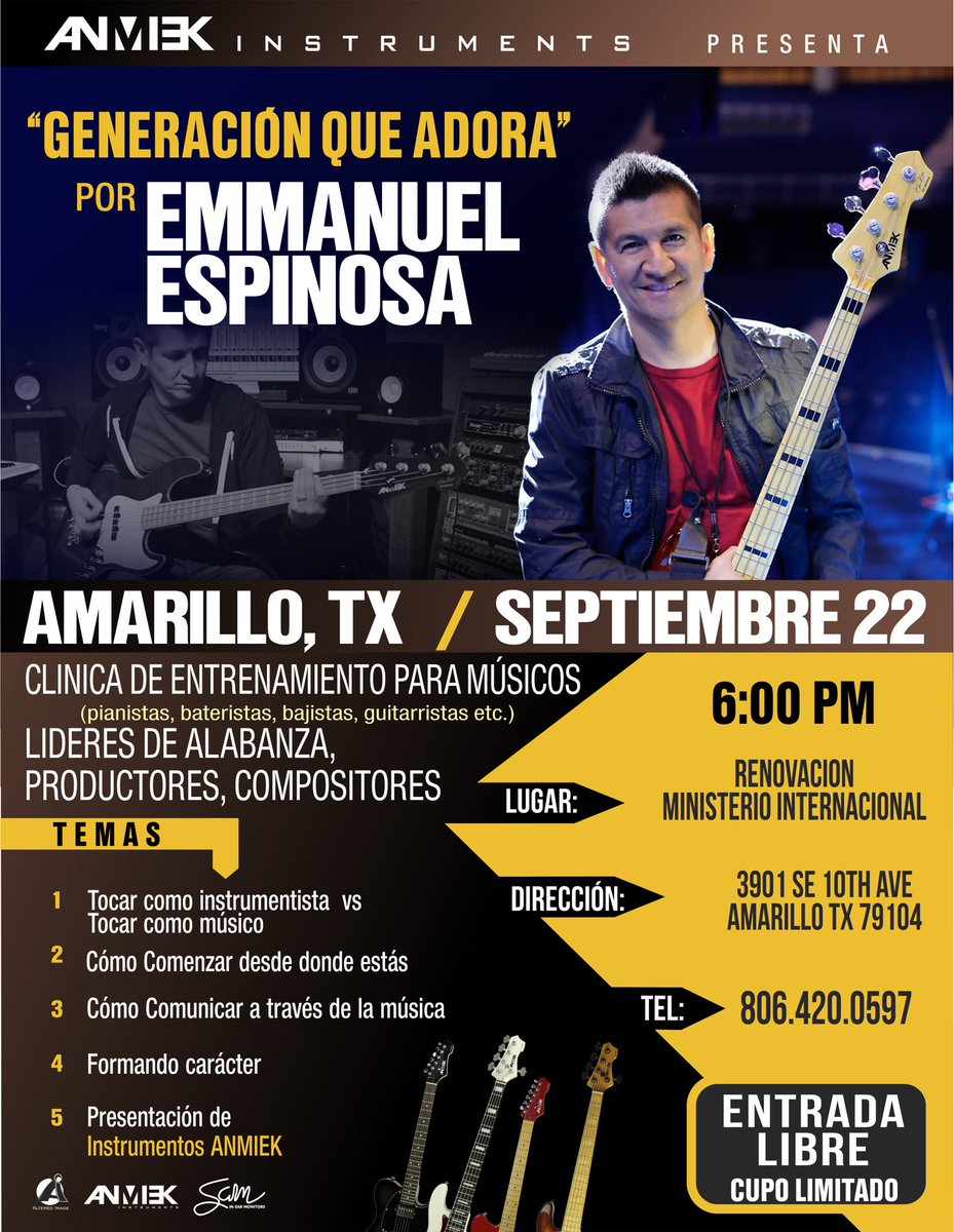 """""""Generacion que Adora"""" hoy en Amarillo, TX. Si eres músico, líder de alabanza, productor o compositor no te lo puedes perder."""