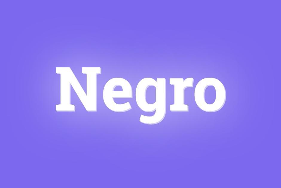 """Le mot du jour. """"Negro"""" https://t.co/aZGIDfX5lh"""