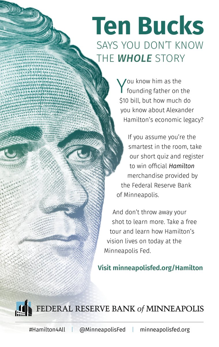 Do you have tickets to see @HamiltonMusical tonight?  Check out our ad in the Playbill to learn more about our free #Hamilton exhibit and our #Hamilton4all4all student contehttps://t.co/IVBLcU6MXks#hamiltonmspt.