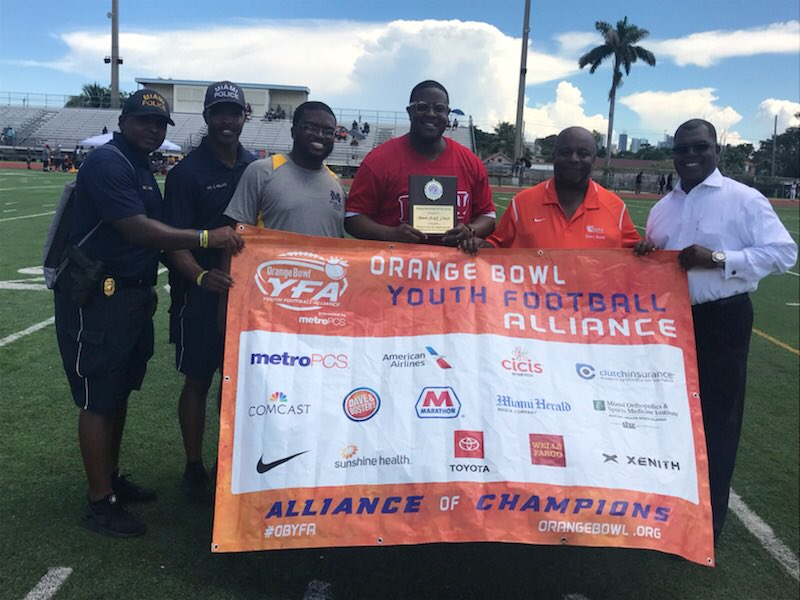 A special thanks to the Orange Bowl Youth Football Alliance (YFA) for  recognizing our  MPD PAL Football Program.pic.twitter.com yW6j7wj7ZR 82ccc8257