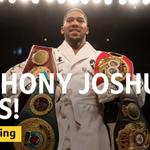 Image for the Tweet beginning: Anthony Joshua wins! 🥊  He's won