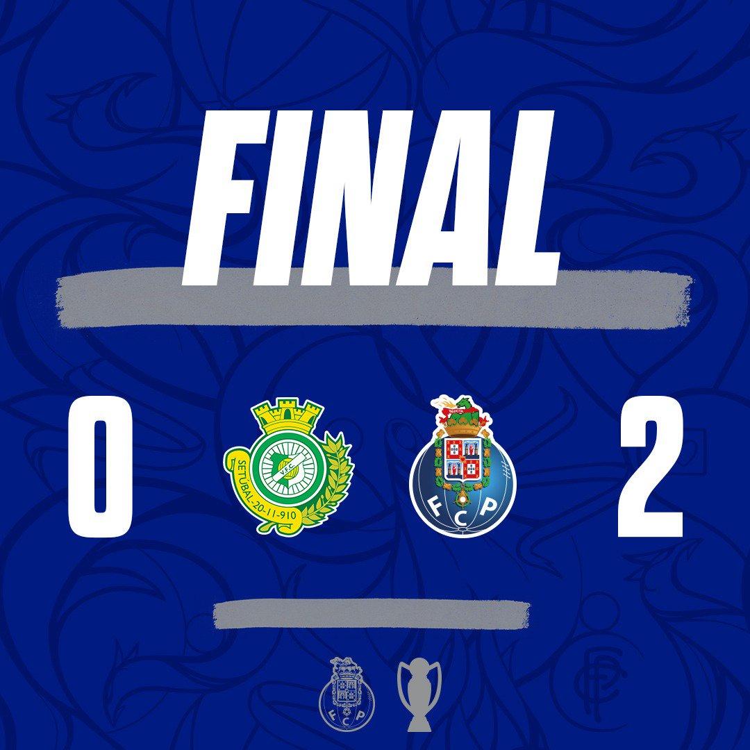 🔵⚪Final do Jogo / End of the match / Final del Partido  ▶Vitória FC 0-2 FC Porto ⚽Aboubakar [17'] ⚽Sérgio Oliveira [79'] #FCPorto #VFCFCP