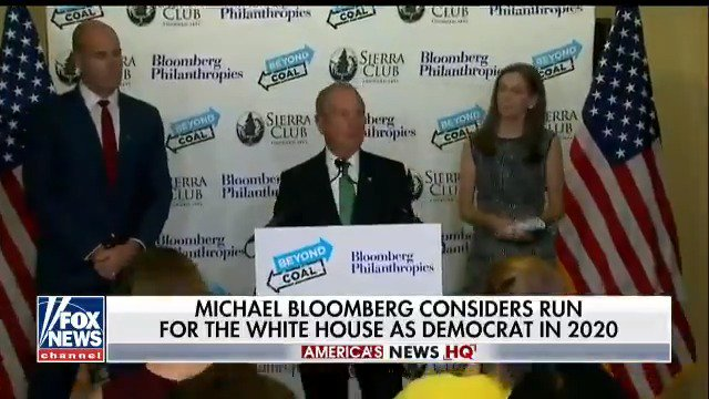 .@MikeBloomberg is considering a run for The White House in 2020; @lauraingle reports. https://t.co/7XRKdUMc2i