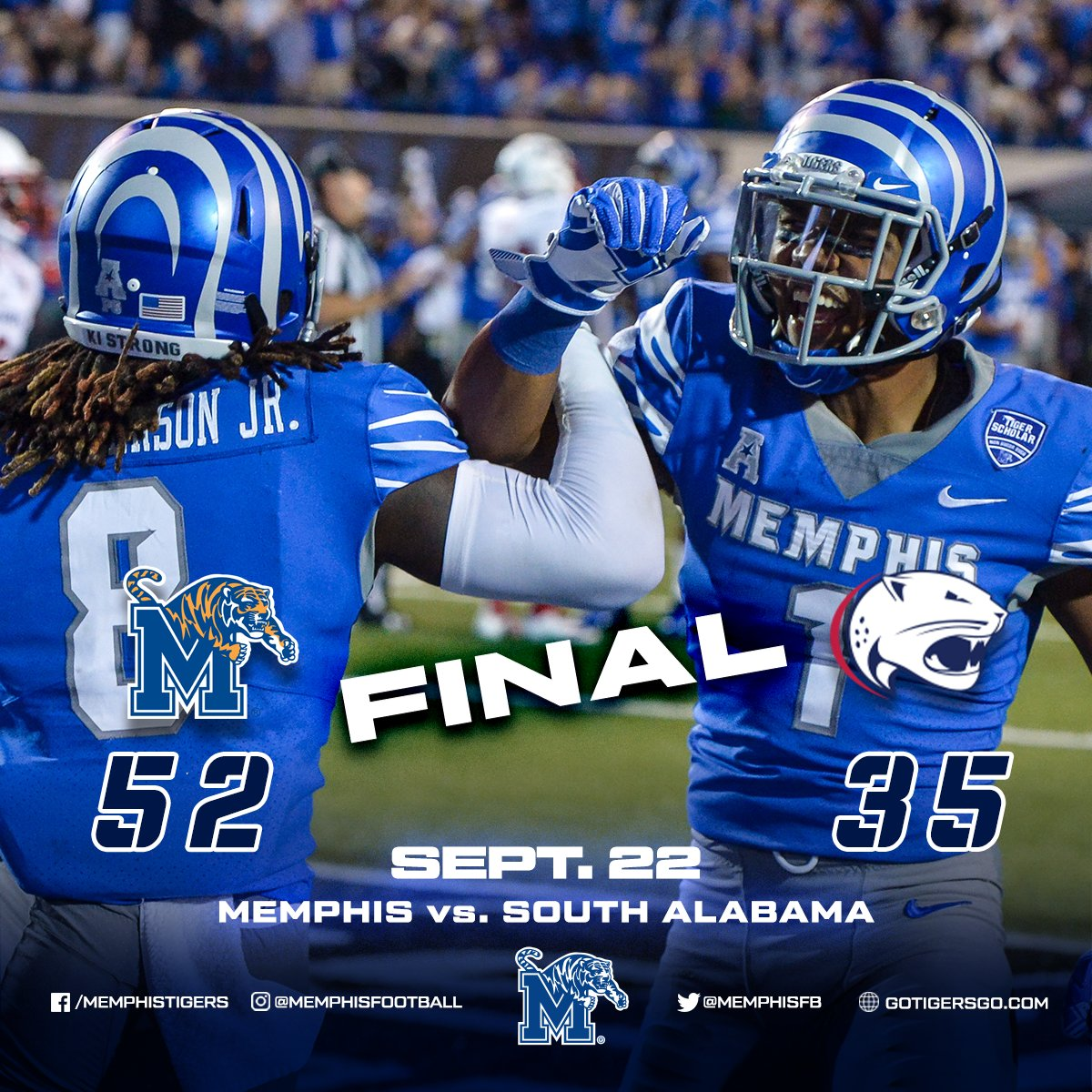 "memphis football on twitter: ""final 