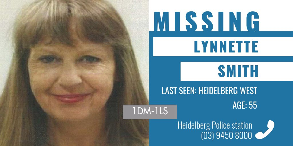 Police are appealing for public assistance to help locate missing Heidelberg Heights woman Lynnette Smith. The 55-year-old was last seen in Heidelberg West on Friday night. More → https://t.co/CKNmQMVsH5