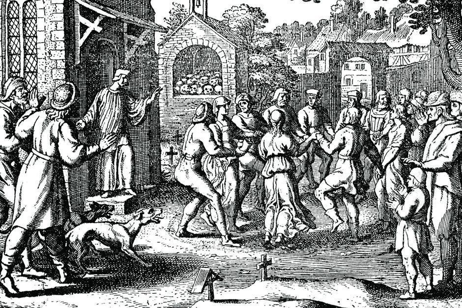 Exceptionnellement en accès libre ce week-end 🎆| #Histoire. À Strasbourg, la mystérieuse épidémie de #danse de l'été 1518 https://t.co/0HYMd10fxZ