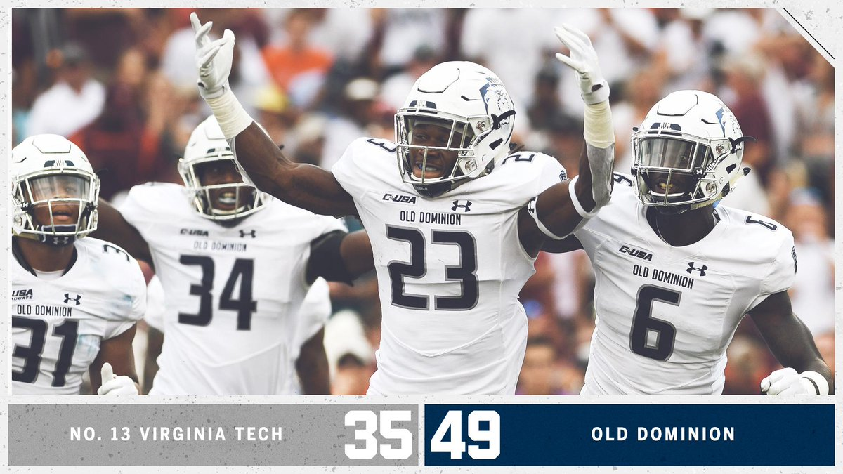🚨 UPSET ALERT 🚨 OLD DOMINION HAS DONE IT! Down goes No. 13 Virginia Tech!