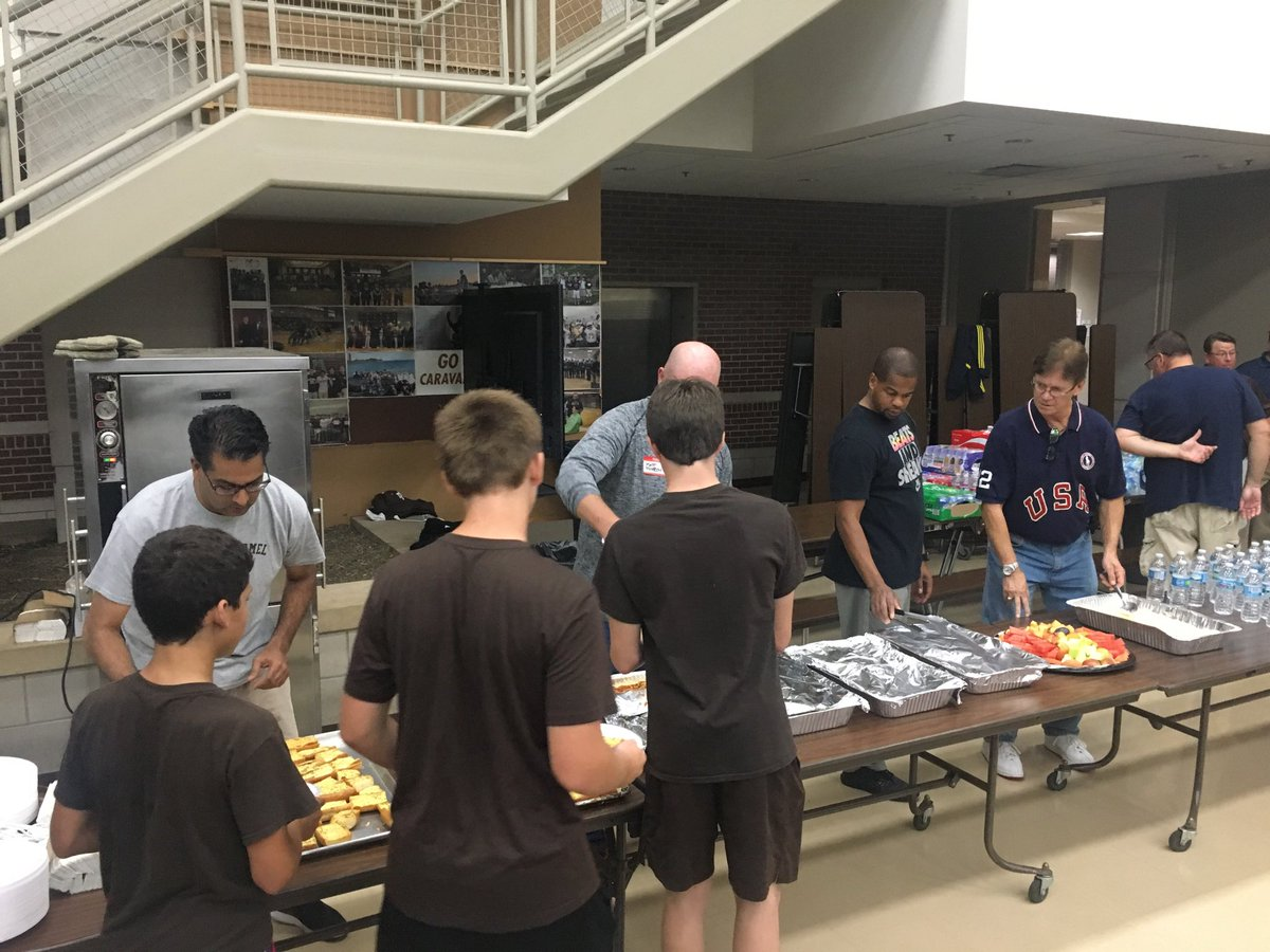 Simply the Best. MC Fathers Club serving dinner to begin the Freshman Overnight. Thank you very much for another delicious meal