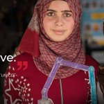Image for the Tweet beginning: These Syrian refugee girls designed
